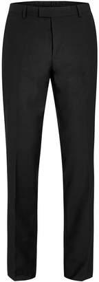 Topman Black Twill Slim Fit Suit Trousers