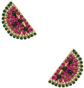 Watermelon Slice Earrings in Fuchsia Anton Heunis 5MMFMmB