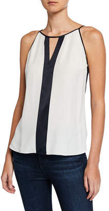 Elie Tahari Hailey Colorblock Sleeveless Top