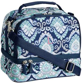 Pottery Barn Teen Gear-Up Navy Deco Medallion Dual Compartment Lunch Bag