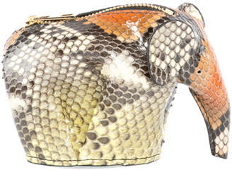 Loewe Snakeskin Elephant Coin Purse