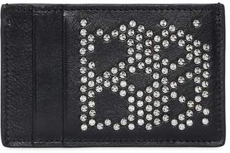 Alexander McQueen Studded Skull Leather Card Holder