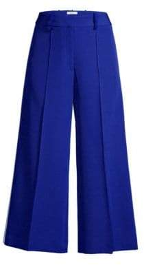 ad7886f7912b6 Milly Stretch Cady Wide-Leg Cropped Pants
