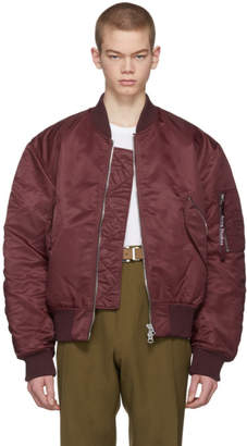Acne Studios Burgundy Makio Bomber Jacket