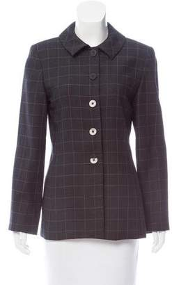 Oscar de la Renta Oscar by Structured Wool Jacket