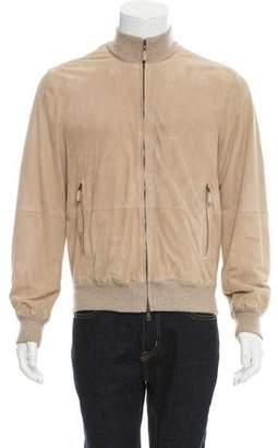 Brunello Cucinelli Suede Zip-Up Jacket