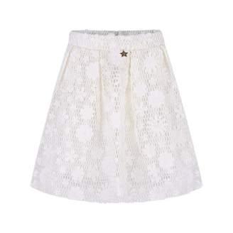 Relish RelishIvory Flower Skirt