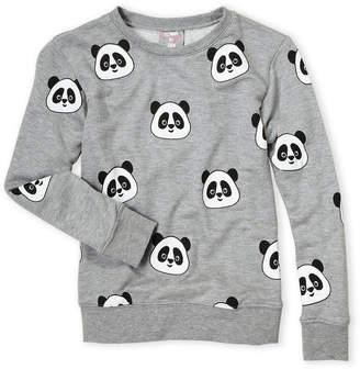 Flowers by Zoe Girls 4-6x) Grey Panda Sweatshirt