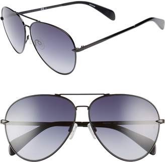 25b1f2139ada at Nordstrom · Rag   Bone 63mm Oversize Aviator Sunglasses