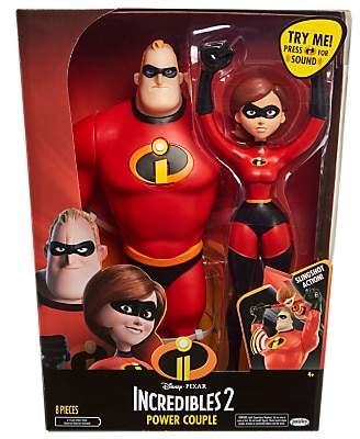 Disney Pixar The Incredibles 2 Power Couple Figures