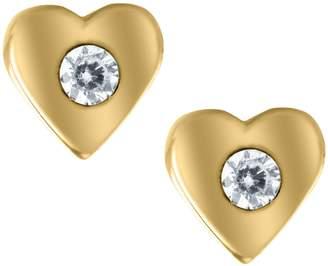 Mignonette 14k Gold & Cubic Zirconia Heart Earrings