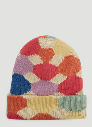 6bc9b565369 Gucci Kaleido Knit Hat in Cream