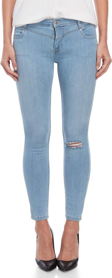 Free People Light Wash Mara Skinny Jeans