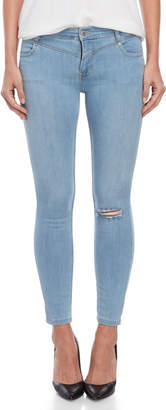 Free People Light Wash Mara Skinny Jeans