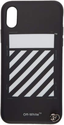 Off-White ブラック Diag iPhone X ストラップ ケース