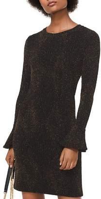 MICHAEL Michael Kors MICHAEL Metallic Stretch-Knit Flare Cuff Dress