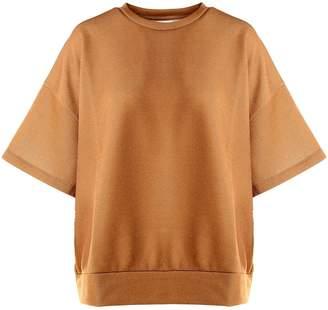 Dries Van Noten Halovic Lurex Cotton-blend Oversized T-shirt