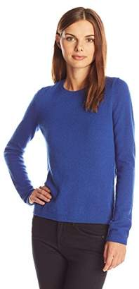 Lark & Ro Women's 100% Cashmere Soft Slim Fit Crewneck Sweater
