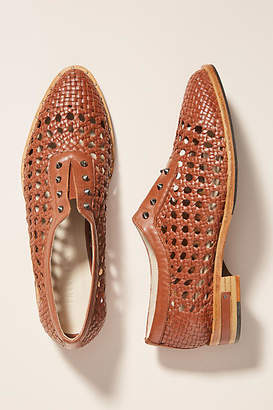Freda Salvador Woven Leather Oxford Loafers