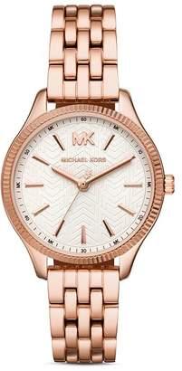 ea2340c261cf Michael Kors Lexington Rose Gold-Tone Link Bracelet Watch