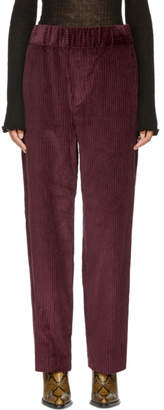 Isabel Marant Burgundy Meloy Trousers