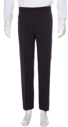 Dolce & Gabbana Flat Front Glen Plaid Dress Pants