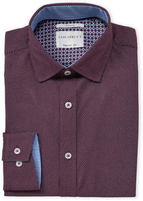 Con.Struct Polka Dot Regular Fit Dress Shirt