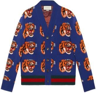 Tiger jacquard wool cardigan $1,380 thestylecure.com