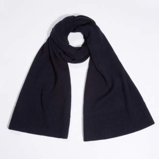 The White Company Wool-Cashmere Rib Edge Scarf