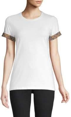 Burberry Kabini Check Cuff T-Shirt