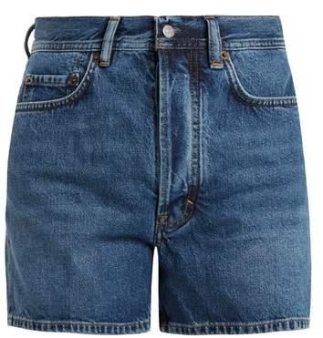 Swamp high-rise denim shorts