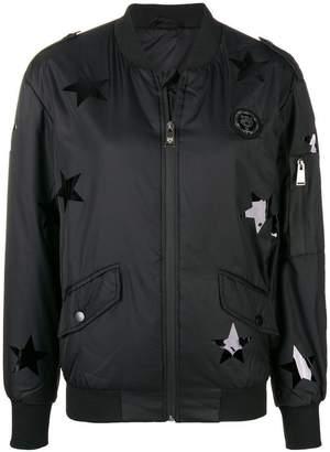 Plein Sport star print bomber jacket