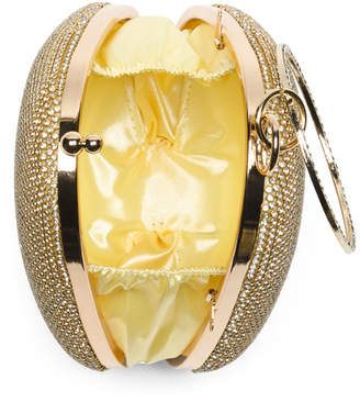 Ring Handle Crystal Clutch