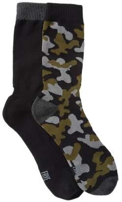 Frye Camo Crew Socks - Pack of 2