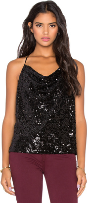Michael Stars Sequined Cowl Neck Tank $168 thestylecure.com