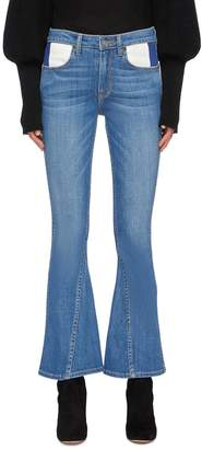 TRE by Natalie Ratabesi 'Cher' colourblock pocket panelled flared jeans