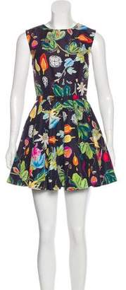 Camilla And Marc Plant Print Mini Dress