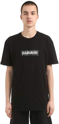 Napapijri Logo Patch Cotton Jersey T-Shirt