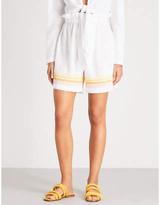 Lisa Marie Fernandez Ric-rac-trimmed linen shorts