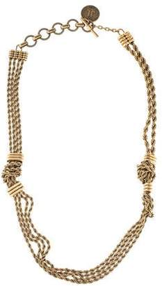Lanvin Knotted Rope Necklace