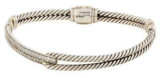 David Yurman Diamond Petite Pavé Labyrinth Single-Loop Bracelet