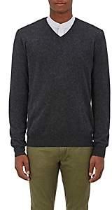 Barneys New York Men's Cashmere V-Neck Sweater - Charcoal