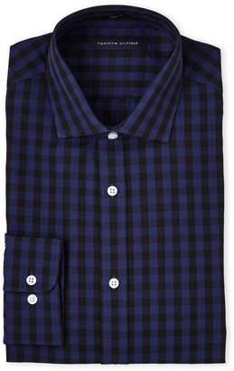 Tommy Hilfiger New Navy Checked Dress Shirt