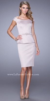 La Femme Off The Shoulder Satin Cocktail Dress $398 thestylecure.com