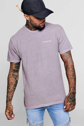 boohoo Washed Embroidered Stop Looking Oversized T-Shirt