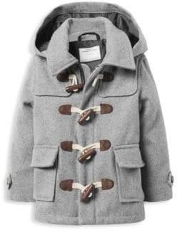 Janie and Jack Little Boy's& Boy's Wool Toggle Coat