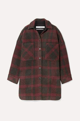 IRO Zunky Oversized Checked Flannel Jacket - Red