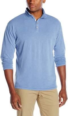 Margaritaville Men's Shore Field Long-Sleeve Button Top Pique