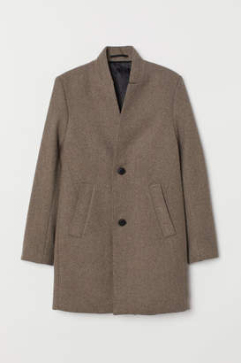 H&M Coat with Stand-up Collar - Beige
