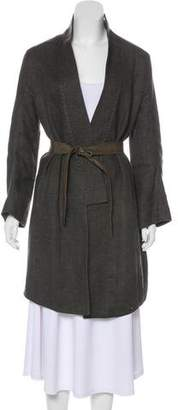 Theyskens' Theory Shawl Collar Long Coat